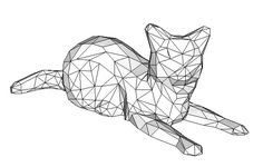 Animal Paper Model - Cat Free Papercraft Download - http://www.papercraftsquare.com/animal-paper-model-cat-free-papercraft-download.html#AnimalPaperModel, #Cat