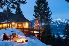 Log home in Whitefish, Montana.  It is all about the views in Montana!