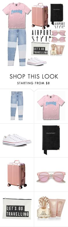 """""""Untitled #969"""" by maria-gutierrez-perez ❤ liked on Polyvore featuring MANGO, WithChic, Converse, Aspinal of London, House Doctor and Vince Camuto"""