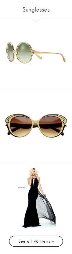 """Sunglasses"" by singlemom ❤ liked on Polyvore featuring accessories, eyewear, sunglasses, pinot, summer sunglasses, round sunglasses, orange lens glasses, tory burch sunglasses, oversized round sunglasses and sunglass"