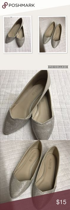 ALDO silver flats Size 8.5 Shoes Flats & Loafers