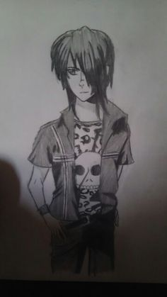 My drawing of Fang from Maximum Ride by maizey droz