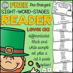 Guided Reading: Level aa St. Patrick's Day Sight Word Reader - FREE!