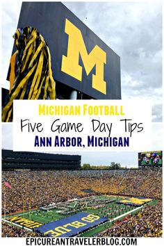 Whether you are a football fan or not, there is nothing quite like the fanfare of a Michigan football game at The Big House. Here are five tips from a Michigander for having a fun and foodie game-day experience in Ann Arbor, Michigan, USA! Us Vacation Spots, Vacation Quotes, Family Vacation Destinations, Vacation Ideas, Vacations, Travel Destinations, Michigan Game, Michigan Travel, State Of Michigan