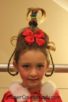cindy lou who hair tutorial