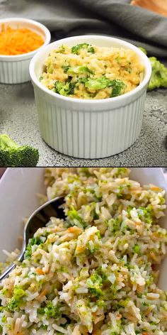Cheesy Broccoli Rice A fantastic versatile side dish loaded with cheesy rice and broccoli. Use the cheese and vegetable your family loves. The post Cheesy Broccoli Rice A fantastic versatile side dish loaded with cheesy rice a appeared first on Recipes. Rice Recipes For Dinner, Side Dish Recipes, Vegetable Recipes, Chicken Recipes, Recipes With Brown Rice, Lunch Recipes, White Rice Recipes, Rice Salad Recipes, Vegetable Ideas