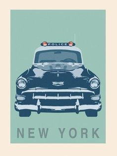 size: Stretched Canvas Print: New York - Cop Car by Ben James : Artists Using advanced technology, we print the image directly onto canvas, stretch it onto support bars, and finish it with hand-painted edges and a protective coating. New York Police, Car Posters, Stock Art, Painting Edges, Police Cars, Stretched Canvas Prints, Art Pictures, Giclee Print, Art Prints