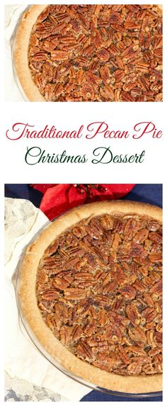 This traditional pecan pie recipe is the perfect dessert to your Christmas dinner! Check out all our Christmas recipes for an amazing meal!