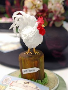 rooster sugarcraft by Jellibat, via Flickr