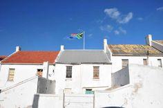 The South African flag flying high in Nelson Mandela Bay, albeit backwards. http://eagerjourneys.com/nelson-mandela-bay/