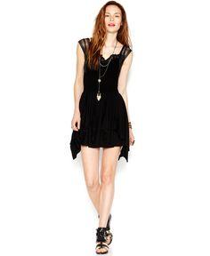 Free People Miss Mini Mini Dress rayon/nylon/spandex black szXS 66.99 Sale thru 8/17 20%off (53.59)