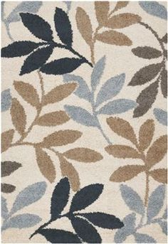 Couristan S Moonwalk Collection Lunar Garden Area Rug In Blue Beige