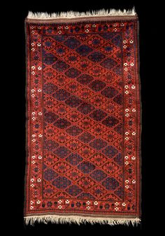 Culture Baluchi people Creation date about 1875 Collection Textiles Materials wool Dimensions 44 x 76 in. | 111.8 x 193.0 cm.