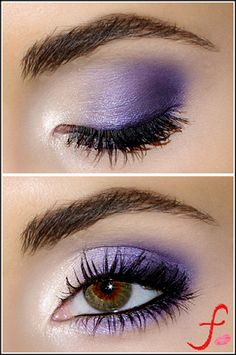 "Plum purple violet eye shadow by Florina the Makeup Artist. Someday, I'mma walk up to my own make-up artist and be like, ""Gimme some a diss."""