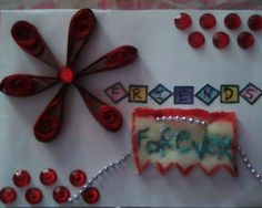 d card that i made on friendship's day..:) for my best frd..