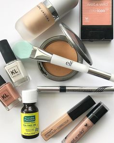 "WRAYN on Instagram: ""APRIL FAVORITES: •Marc Jacobs Coconut Gel Highlighter •Wet N Wild Color Icon Blush in Pearlescent Pink •ELF Pore Refining Brush & Mask…"""