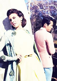 Lauren Cohan & Steven Yeun (Maggie and Glenn) for LA Magazine  #TWD