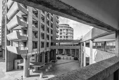 World war II left the Barbican historic site in ruins. London aspired to increase population in that demolished area by creating a residential complex.