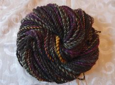 HerbWitch handspun bulky weight coopworth yarn with hints of