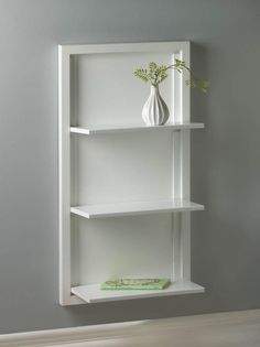 White Folding Wall Shelf