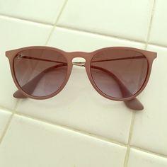 Rayban Erika sunglasses Grey Erika Rayban sunglasses, lightly worn, comes with case Ray-Ban Accessories Sunglasses