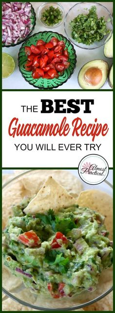 The best guacamole recipe you will ever try. A quick, easy, and healthy snack that is simple to make. Serve this dip for Cinco de Mayo, as a Super Bowl appetizer, or whenever you feel like having a fresh something.