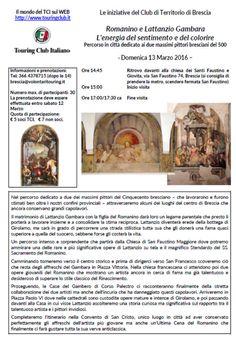 Visita Guidata Romanino e Lattanzio Gambara http://www.panesalamina.com/2016/45280-visita-guidata-romanino-e-lattanzio-gambara.html