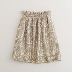 gold sequined skirt