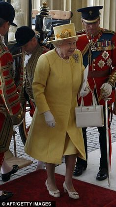 Royal reception: The Queen arrives at Buckingham Palace.