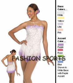2015 Custom  Ice Skating Dress For Girls Fashion New Brand Figure Skating Competition Dress HB1226
