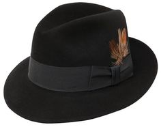 Stetson Saxon Black Fedora Hat