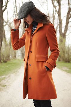 Guess who got this for Christmas? Women's Luxe Wool Walker Coat - Lands End.