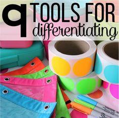 Nine Tools For Differentiating - Differentiated Kindergarten