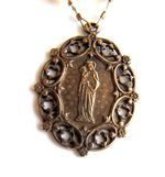 Vintage St. Anne pearl necklace