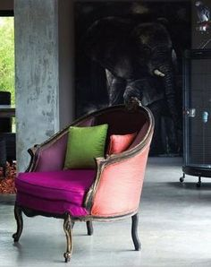 color blocking + antique