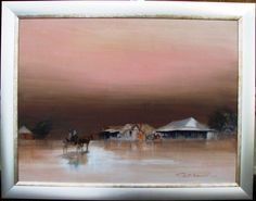 Huge Rex Newell original oil titled In Town for the day Australian Outback Have Fun, Australia, Oil, Artists, The Originals, Painting, Painting Art, Paintings, Painted Canvas