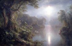 O Rio de luz. 1877. Óleo sobre tela. Frederic Edwin Church (Hartford, Connecticut, USA, 04/05/1826 — Nova Iorque, NY, USA, 07/04/1900). Encontra-se na Galeria Nacional de Arte em Washington, DC, USA.
