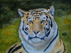 Harinarayan Sreenivasan Watercolor Painting. Wildlife/Botaical, Nature Art - Sherkhan