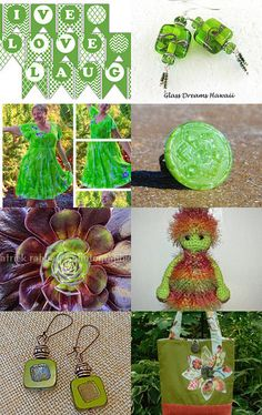 16 shades of GREEN - part I by Bianca BsCozyCottageCrafts, LLC on Etsy--Pinned with TreasuryPin.com