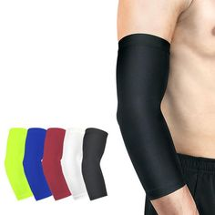 4737f377de 1PCS Running Man Sports Basketball Arm Sleeve Cycling Compression Arm  Warmers Elbow Protector Pads Support For Men