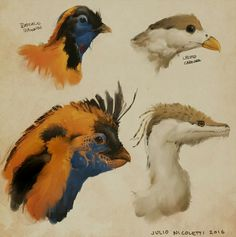 Sweet art of beaked (and non-beaked) creatures