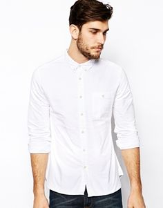 ASOS Oxford Shirt In White With Long Sleeves