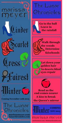 The Lunar Chronicles Bookmark Contest entry