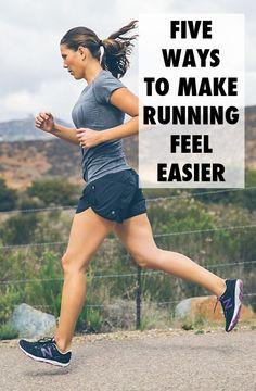 5 Ways to Make Running Feel Easier #fitness #exercise #workout #running