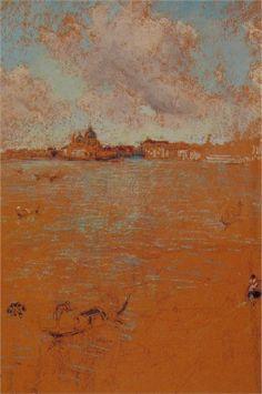 James Abbott McNeill Whistler, Venetian Scene, pastel, 1879. Many pastel artist on this pin