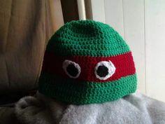 Ninja turtle crochet beanie