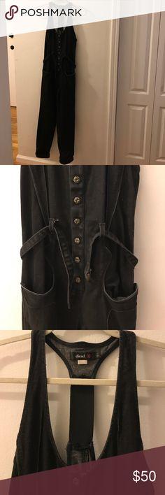 Diesel Black Denim Jumpsuit Excellent condition. Worn once. Thick durable Denim with little stretch. Diesel Pants