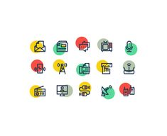 ⬇ Free download: Communication Icons