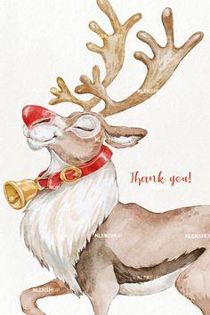 Art Christmas Gifts, Etsy Christmas, Christmas Clipart, Christmas Animals, Christmas Costumes, Christmas Deer, Christmas Shirts, Christmas Drawing, Christmas Paintings