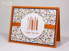 Balloon Bash Birthday Card - Balloon Bash stamp set & Birthday Bash paper from Stampin' Up!